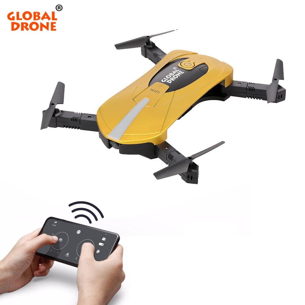 RC Drones con cámara hd RC helicóptero plegable Mini Drone FPV Quadcopter Selfie Drone Quadrocopter Dron GW018 JY018 JD018