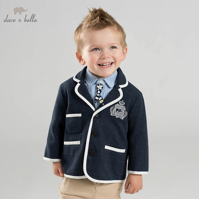 DBA9558 dave bella spring baby boys fashion coat children tops infant toddler high quality coat