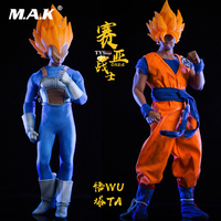 For Collection 1/6 Japanese Anime Dragon Ball Saiyan warrior Son Goku /Vegeta Head Clothes Set for M30 M33/M35 Action Figure