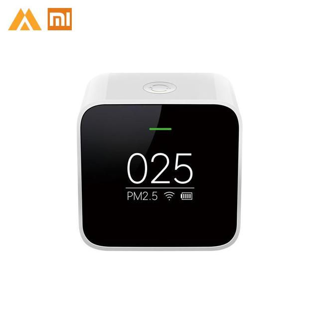 Original Xiaomi Smart Air Quality PM2.5 Monitor Detector OLED Display Accurate Laser Sensor White Health Care APP Control