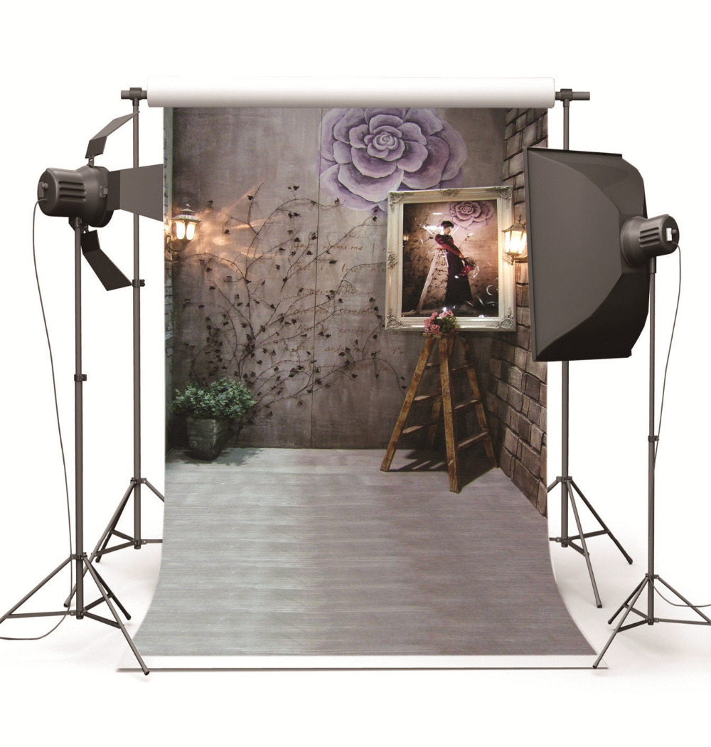 Vintage Room Vinyl Photography Background Backdrop Studio: Indoor Vintage Room Studio Photography Backdrops For Photo Studio Photographic Backgrounds For