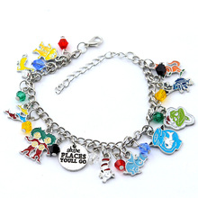 Dr Seuss Metal Novelty Charm Bracelet Adjustable with Crystal Beads For Christmas Gift Cute Jewelry