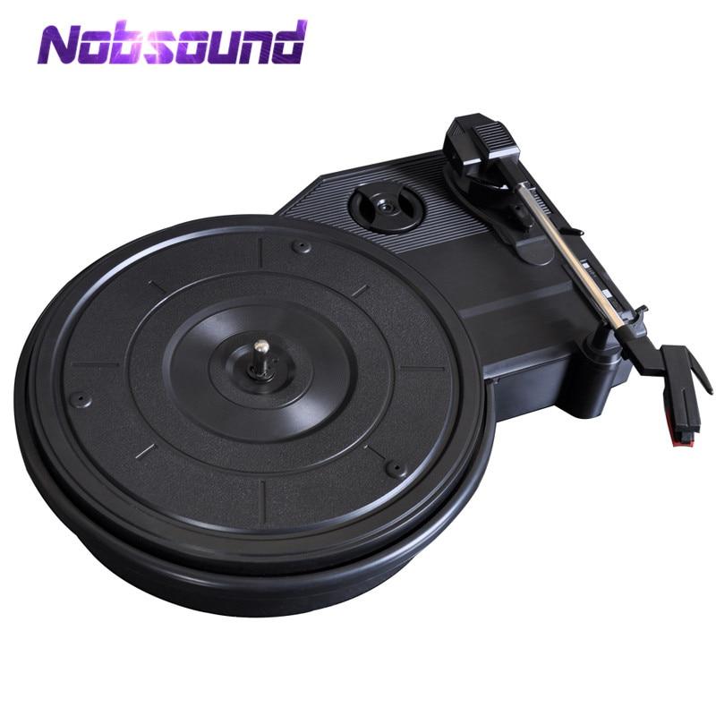 Nobsound HiFi Mini Stereo 3-Speed Turntable Retro LP Vinyl Record Player PC USB Recording