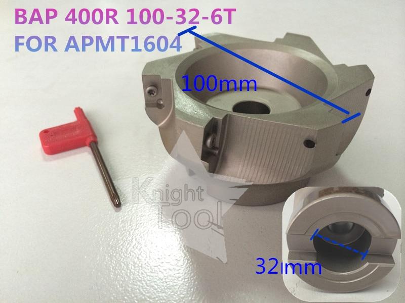 все цены на BAP 400R 100-32-6T BAP Right Angle Shoulder Face Mill APMT1604 Inserts