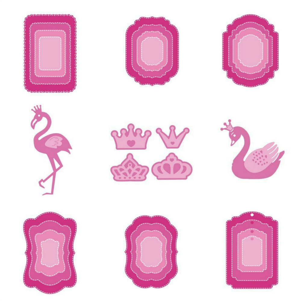 11 Style Estel METAL CUTTING DIES Cut Lace Crown Swan DIY Scrapbook PAPER CRAFT Card Album Embossing Stencils Template Punch