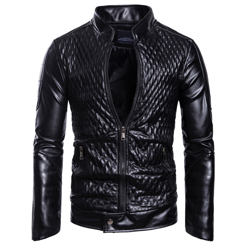 Brand Leather Jacket men Slim Casual Coats Plus size motorcycle Jackets male high quality Autumn Winter Clothing Outwear