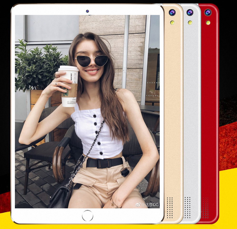 BDF 10 Inch Tablet Android 7.0 Tablet Pc 4GB/64GB Bluetooth WiFi Octa Core Tablet 1920*1200 IPS 3G Phone Tablet Android 10.1 Tab