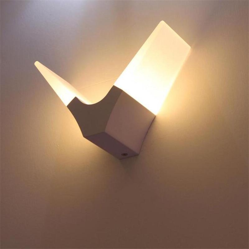 110 220v 6w Led Wall Lamp Wandlamp Bathroom Lampara Lampade Da Parete Per Interni Iluminacion Vanity Light Bed Lamp 08