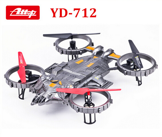 цена YD-712 2.4G 4-Channel 4-CH RC Helicopter ew Large Remote Control RC 6 Axis UFO Aircraft Built-in Gyro Avatar LED Light plane