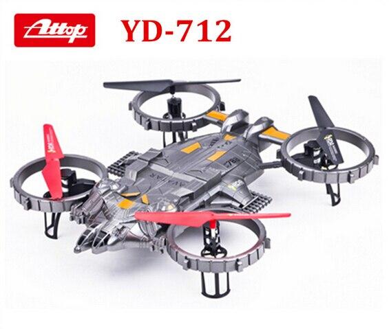 YD-712 2.4G 4 canaux 4-CH RC hélicoptère ew grande télécommande RC 6 axes UFO avion intégré gyroscope Avatar lumière LED avion