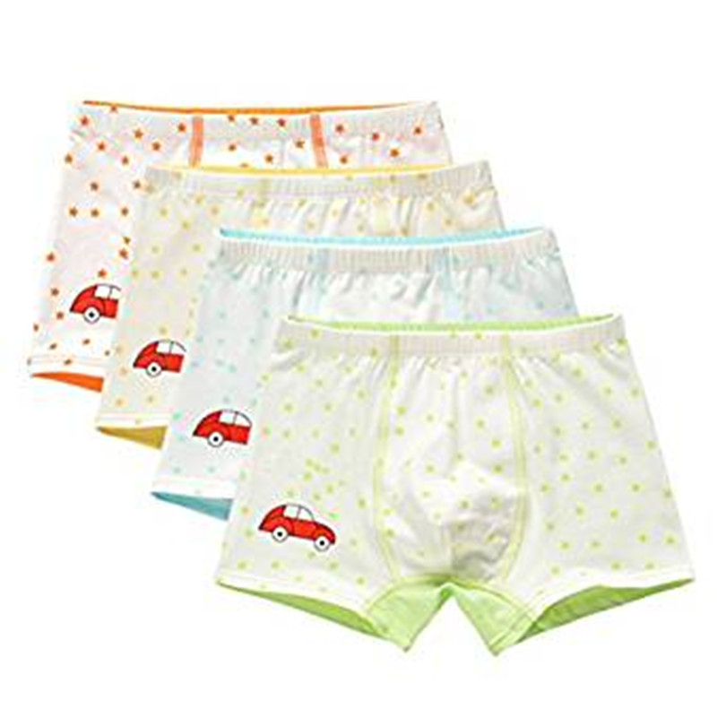 ADIASEN Little Boys 4-Packs car design Underwear Hipster Knickers Briefs Boxer Safety Pants
