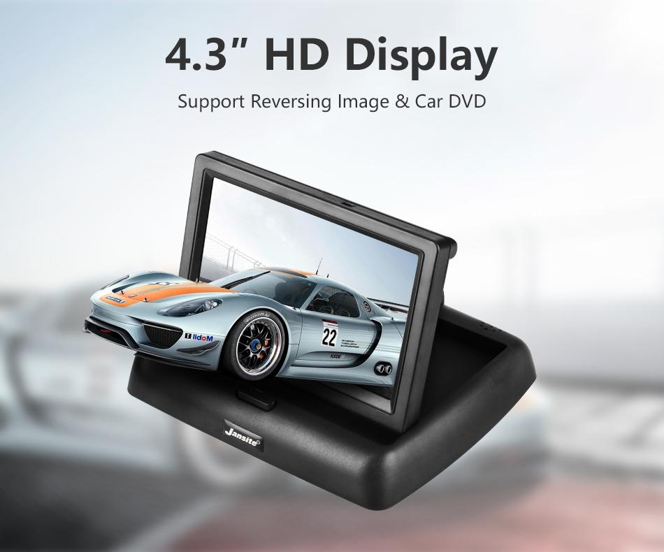 """Jansite 4,3 """"monitor de coche TFT LCD cámara de visión trasera. 3"""
