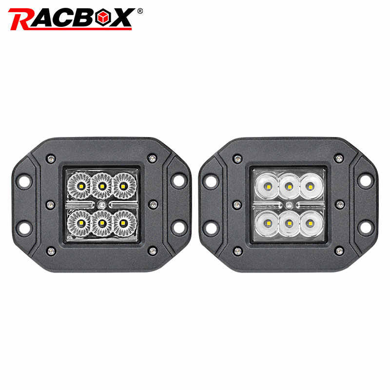 12V OffRoad 18W Headlight LED Work Light for ATV UTV SUV MPV UAZ 4x4 Accessories Auto WorkLight Driving Fog Lighting Car Styling