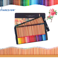 Marco 3100 Professional Oil Color Pencils Lapis De Cor 100 Colored 2B Pencil School Art Pencil