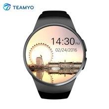 Moda Reloj Inteligente KW18 MTK2520C Bluetooth Smartwatch Podómetro Del Ritmo Cardíaco Reloj Soporte Tarjeta SIM TF Facebook Para IOS Android