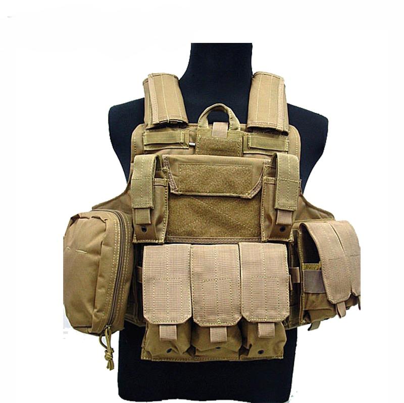 Taktická vesta CS Wargame Airsoft Paintball MOLLE CIRAS Combat Vest CIRAS taktická vesta s trojitým zásobníkem ACU / WOODLAND