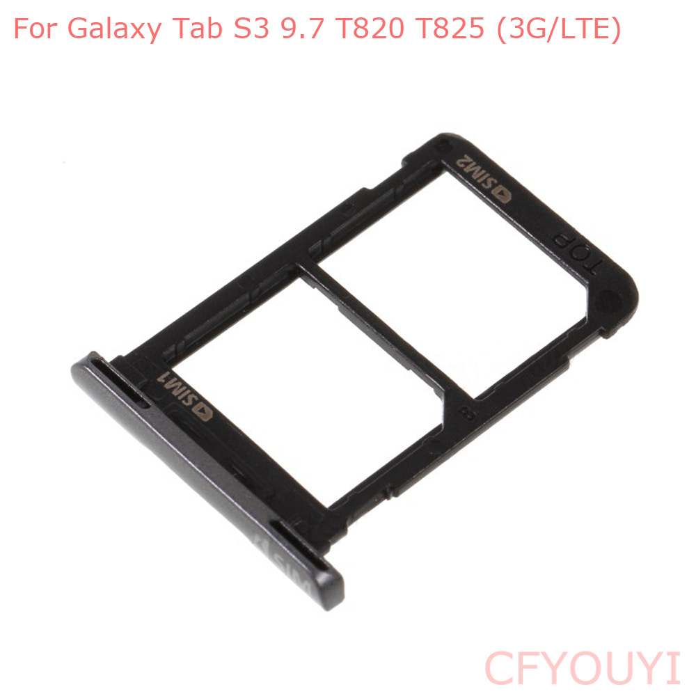 New Dual SIM Card Tray Slot Holder Part For Samsung Galaxy Tab S3 9.7 T820 T825 (3G/LTE)