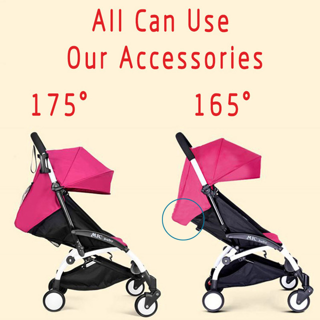 175 Degrees Stroller Accessories for Baby Yoya Babyzen Yoyo Seat Liners Sun Shade Cover Baby Throne Time Pram Hood Cushion Pad 1