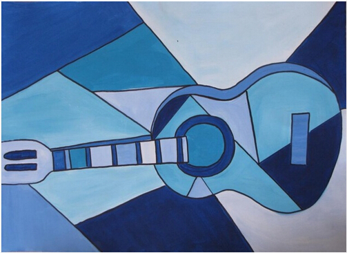 pablo picasso guitar painting