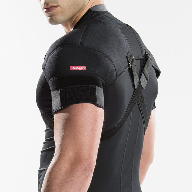 Kuangmi Removable Shoulder Support Belt Flexible Back Belt Correct Rectify Posture Adjustable Wrap Bnadage Sports Shoulder Brace
