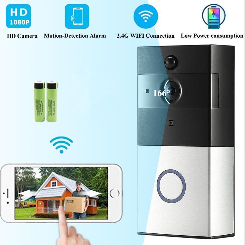 LESHP Wireless Video Doorbell 1080P WiFi Door bell Two-way Talk Home Alarm Security HD 2.4G Phone Remote PIR MotionLESHP Wireless Video Doorbell 1080P WiFi Door bell Two-way Talk Home Alarm Security HD 2.4G Phone Remote PIR Motion