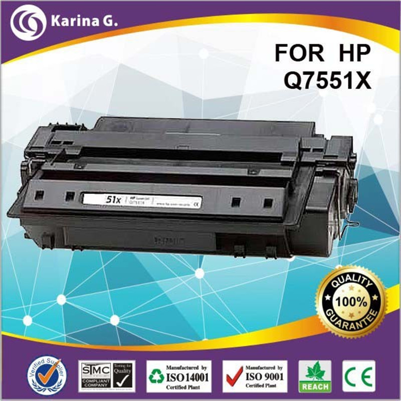 High page yield for 51X 7551x Compatible toner cartridge for HP LaserJet P3005/P3005D/P3005N/P3005DN/P3005X, 13000 page yield
