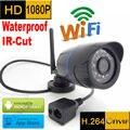 1080 P ip-камера wi-fi 1920x1080 P Беспроводной Водонепроницаемый всепогодный открытый cctv система безопасности мини камеры наблюдения HD kamera