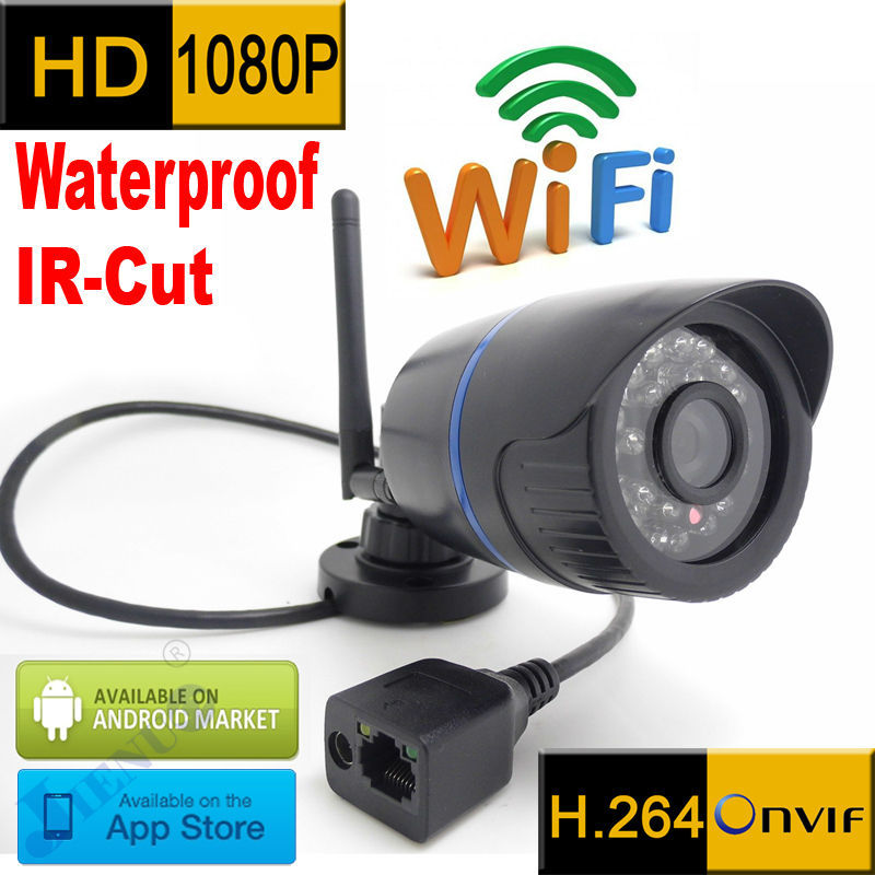 1080P IP-Kamera WiFi 1920x1080P Wireless Wasserdichte wetterfeste Outdoor-CCTV-System Sicherheit Mini-Überwachungskamera HD-Kamera