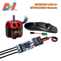 Maytech electric longboard cheap 6355 190KV no hall sensor motor and brushless motor controller VESC and remote (3pcs)