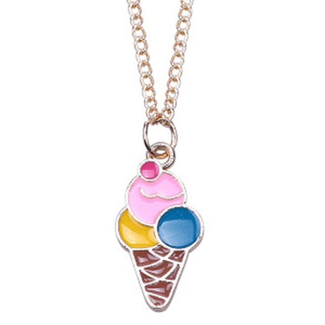 1Pc Ice Cream Pendant Chain Necklace