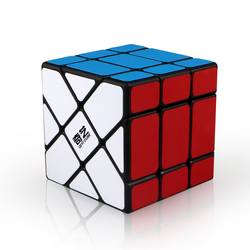 Qiyi 3x3 Fisher Windmill Axis Magic Cube Puzzle Speed Cubo Magico Mofangge XMD Professional Educational Toy For Children