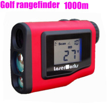 Cheap price 1000m handheld Golf rangefinder distance infrared telescope with LCD Display measurement 3 color chooses free shipping