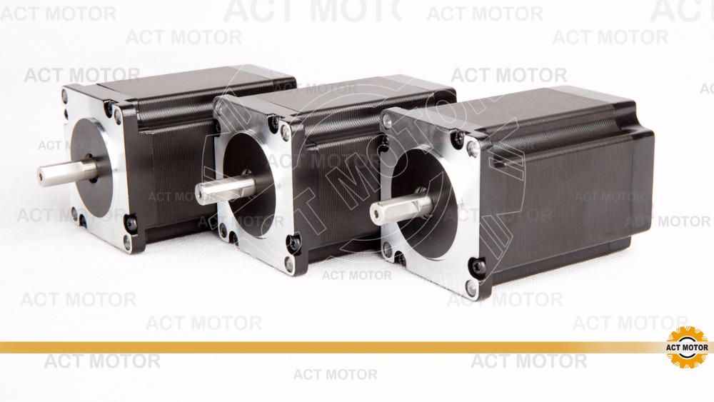 Free Ship from Germany!ACT Motor 3PCS Nema23 Stepper Motor 23HS8430D8P1-5 Single Shaft 4-Lead 270oz-in 76mm 3A CE ISO ROHS germany free ship 3axis 4 lead nema 23 stepper motor 270oz in 3a 76mm ce