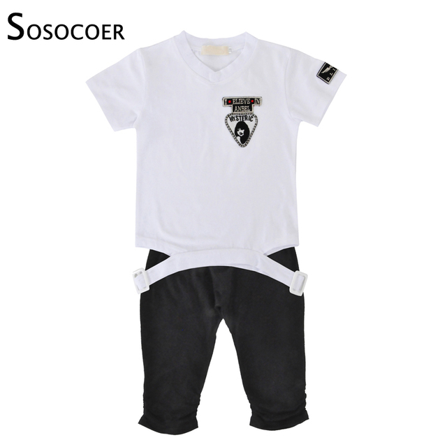 bb1eece13 SOSOCOER Baby Boys Clothing Sets T Shirt Pants Kids Shorts Suits ...