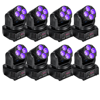 8 Pieces Lot Mini Led Moving Head Light Wash Effect Stage Lighting For Party Mobile