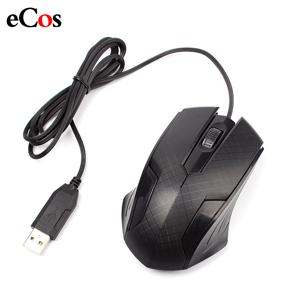 Wired Optical Gaming Mouse 3000DPI 2 Button Black Gamer USB Gamer Pro Mause Mice Cable For Home Office PC Laptop Computer #72727