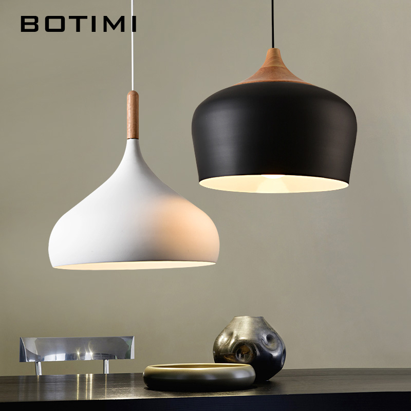 BOTIMI Simple Design Pendant Lights For Dining Kitchen Lampadario Vintage Metal Hanging Lamp Restaurant Luminaria Light Fixture