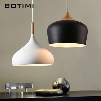 BOTIMI Simple Design Pendant Lights For Dining Kitchen Lampadario Vintage Metal Hanging Lamp Restaurant Luminaria Light Fixture