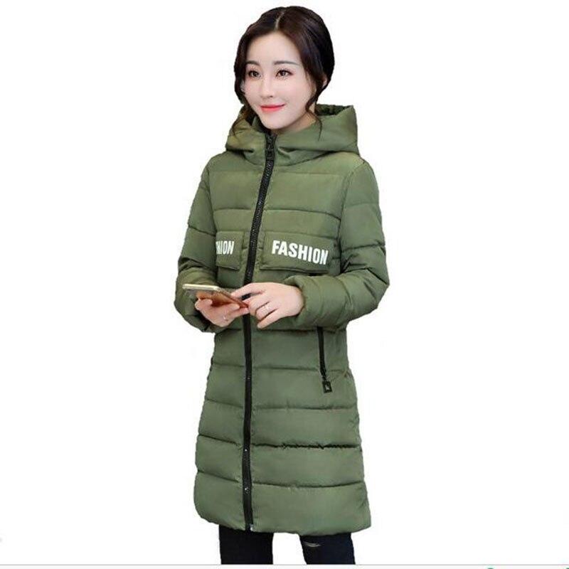 Winter Coat Parka Red Women Clothing Big Yards Long Cotton-padded Jacket Hooded Outerwear 2017 Hot Sale Sasaco Feminino AE218