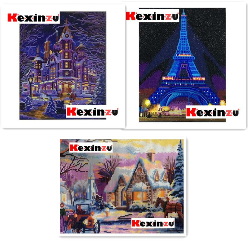 Back To Search Resultshome & Garden Kexinzu Led Light Full Round Drill 5d Diy Diamond Painting 3d Embroidery Mosaic Cross Stitch 5d Decor Gift 30x40cm