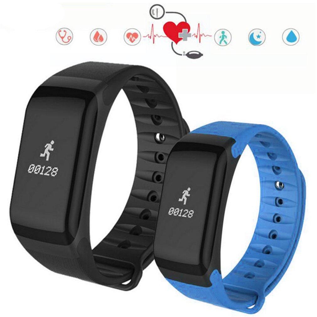 Wristband Heart-Rate-Monitor Pedometer-Bracelet Fitness-Tracker Waterproof F1 Smart