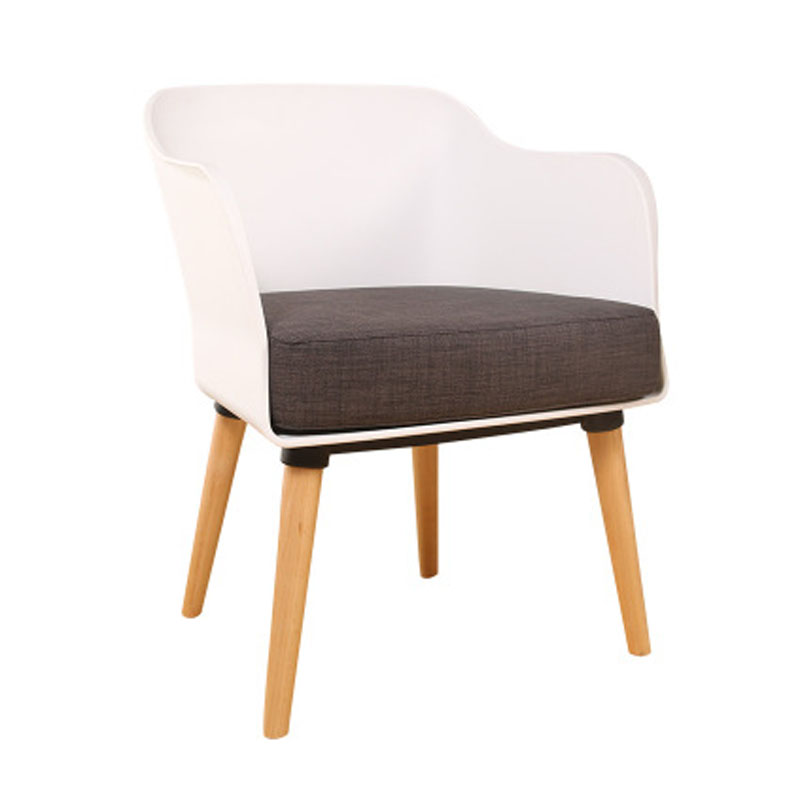 Soft Cushion Seat Solid Wooden Legs Coffee Chair