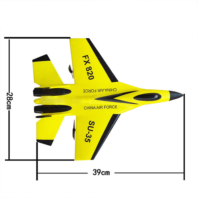 RC Plane Toy EPP Craft Foam Electric Outdoor RTF Radio Remote Control SU-35 Tail Pusher Quadcopter Glider Airplane Model for Kid 8
