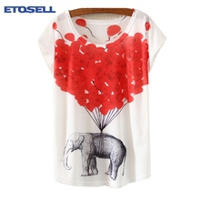 US $3.61 19% OFF|ETOSELL Women Summer Short t shirt O neck 3D Printing Short sleeved shy Owl Multi Various Patterns Outwear-in T-Shirts from Women's Clothing on Aliexpress.com | Alibaba Group