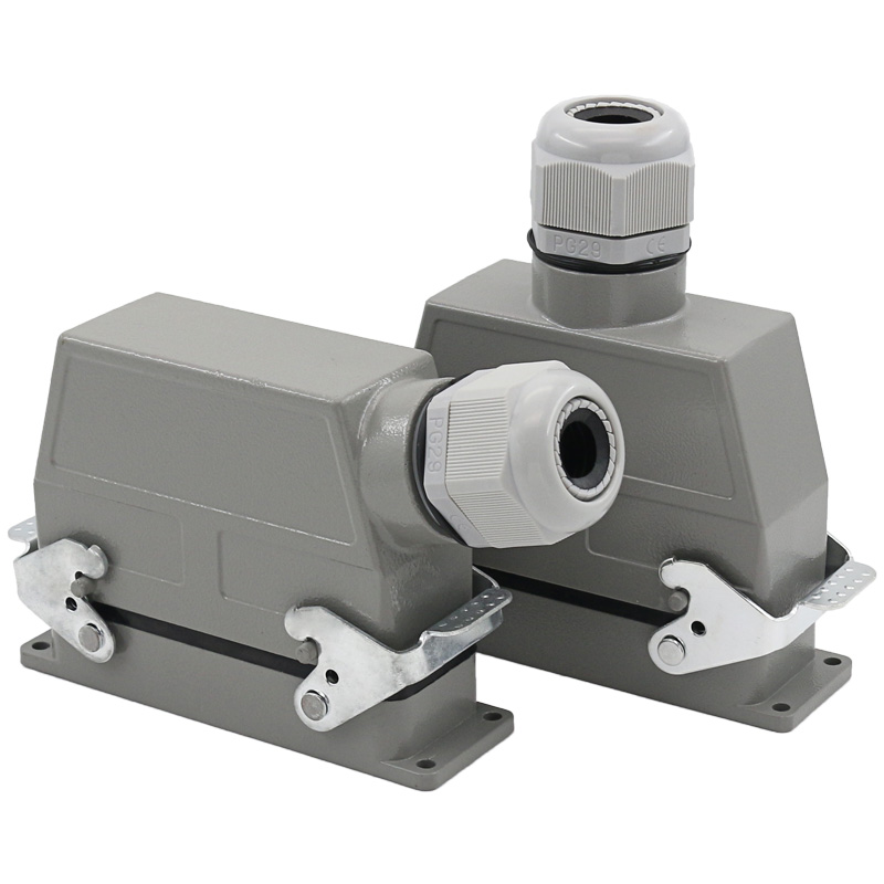 Heavy duty connector 46 core cold pressed rectangular air plug socket h24b hee046 industrial waterproof socket