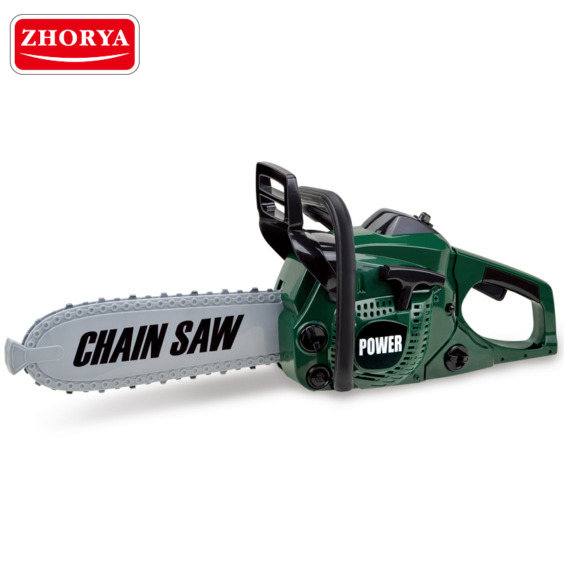 Zhorya Pretend Play Toys Power Tool Rotating Chainsaw with Sound Christmas Gifts Simulation Garden Tool for Boys Children