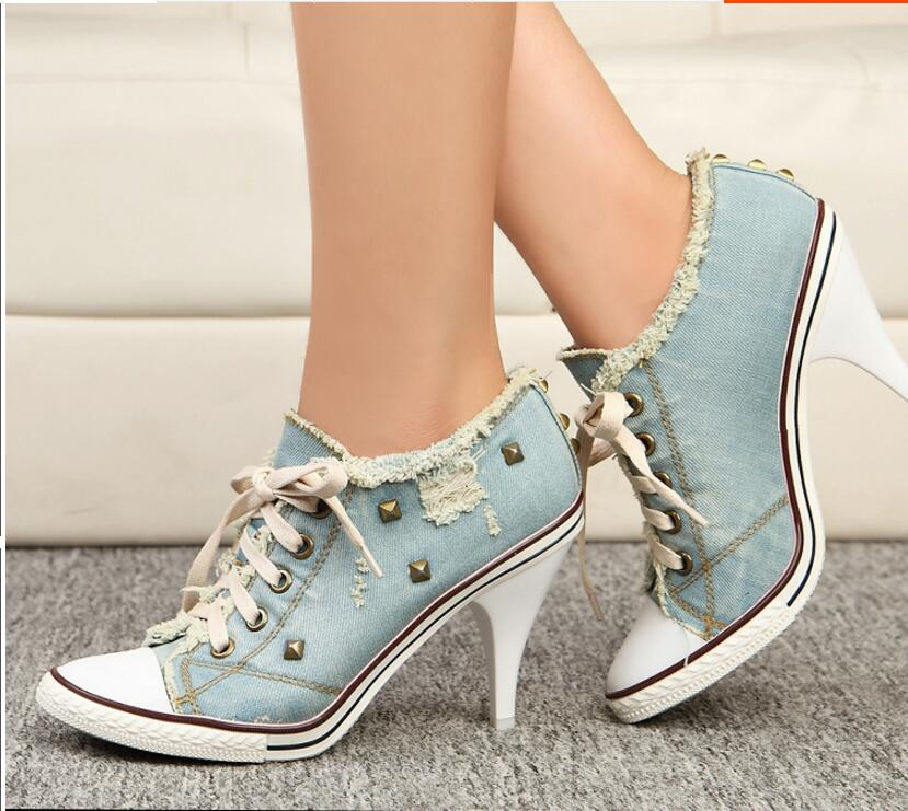 Kaeve blue denim water wash Ankle boots fashion Stiletto heels pumps cowboy shoes high heels jean Free Shipping kaeve blue denim lace up ankle boots fashion casual thin heels cross tied pumps round toe cowboy shoes jean snow boots