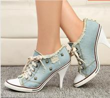 Kaeve  blue denim water wash Ankle boots fashion Stiletto heels pumps cowboy shoes high heels jean Free Shipping blue denim water wash over the knee boots stiletto heels pumps cowboy shoes high heels pointed toe autumn winter knight boots