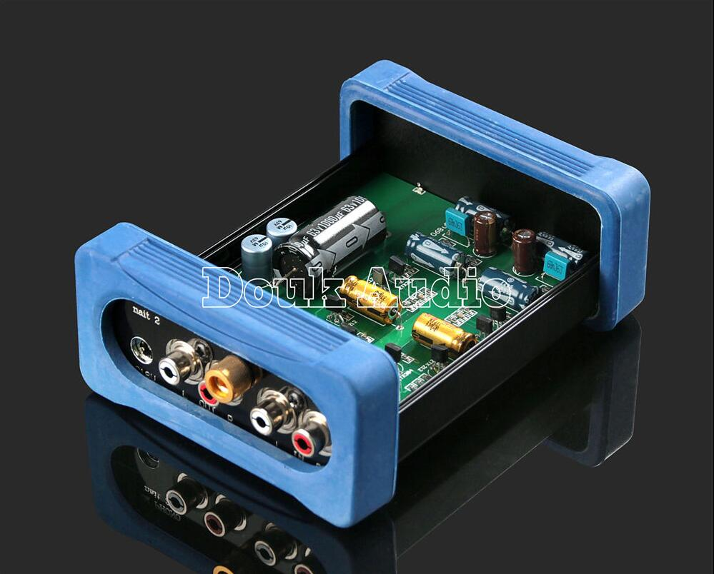 2017 Lastest Douk audio Stereo Class A Phono Preamplifier MM Turntable Vinyl Record Player Hi-Fi Preamp Free Shipping 2017 lastest douk audio nobsound ns 02e class a 6n3 vacuum tube amplifier stereo hifi earphone pre amp free shipping