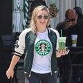 Marca Tops Tees Mulheres Rua Feminino Casual T-shirt Famoso camiseta Vestuário Amantes de Café